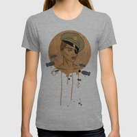 The Steam Captain  Womens Fitted Tee Athletic Grey SMALL