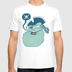 Pirate Material Mens Fitted Tee White SMALL