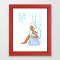 Isabelle and crystals Framed Art Print