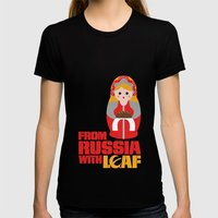 from Russia with loaf Womens Fitted Tee Black SMALL