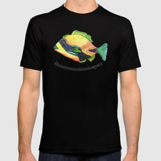 H is for Humuhumunukunukuapua'a Mens Fitted Tee Black SMALL