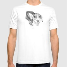 A Story To Tell :: A Beagle Puppy SMALL Mens Fitted Tee White