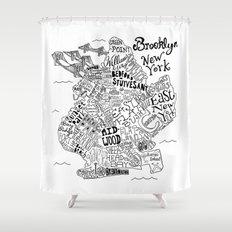 Brooklyn Map Shower Curtain