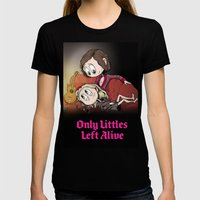Only Littles Left Alive Womens Fitted Tee Black SMALL
