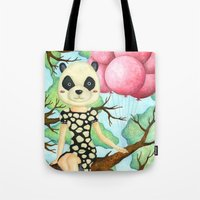 Panda Girl Tote Bag