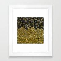 Bullion Rays (gold) Framed Art Print