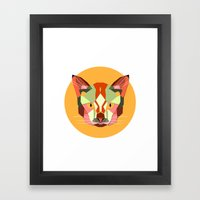 this is a cat. Framed Art Print