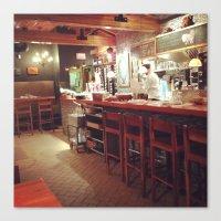 Restaurant Loving Canvas Print