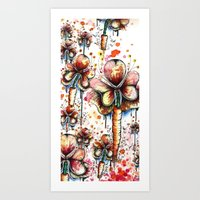 Carrot Flowers Art Print