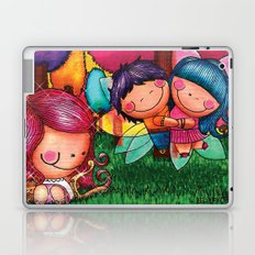 Love Angel - Fun, sweet, unique, creative and very colorful, original, acrylic children illustration Laptop & iPad Skin