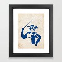 Cyrano de Bergerac - Digital Work Framed Art Print