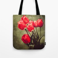 Red Tulips  Tote Bag