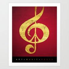 Music & Peace Sheet Music Art Print