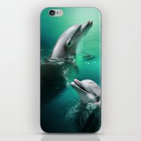 Dancing Dolphins iPhone & iPod Skin
