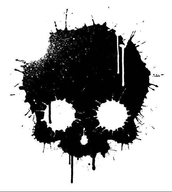 Splattered Skull Art Print