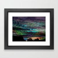 WaterColor SunSet Framed Art Print