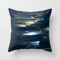Water / H2O #62 (Water Abstract) Throw Pillow