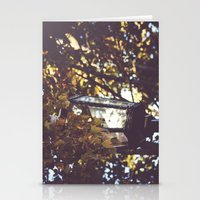 Autumn Leaves, Lamp Post Stationery Cards
