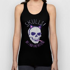 Skulls and Kittens Unisex Tank Top