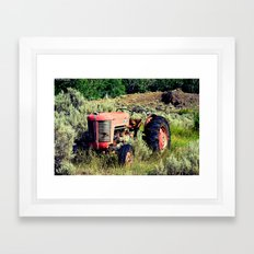 Wanna Take A Ride On My Tractor? Framed Art Print