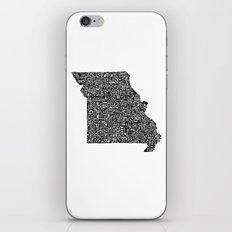 Typographic Missouri iPhone & iPod Skin