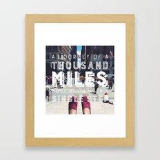 Your Journey Framed Art Print