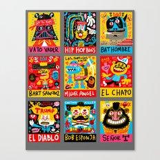 Border Bang color comps 1 Canvas Print
