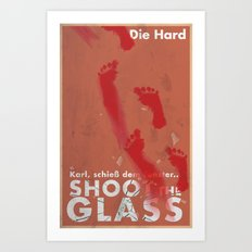 Die Hard - Shoot the Glass Art Print