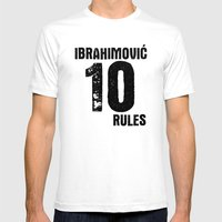 Ibrahimovic 10 Rules Mens Fitted Tee White SMALL