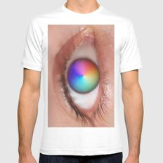 Pantone Eye Vision  White SMALL Mens Fitted Tee