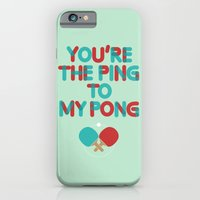 Love is like ping pong iPhone 6 Slim Case