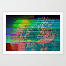 QUEENS GLITCH Art Print
