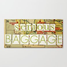 Serious Baggage Canvas Print