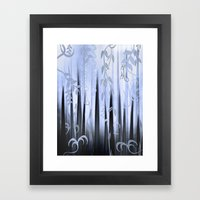 Blue Forest Abstract Framed Art Print