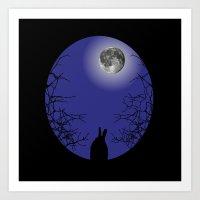 The Black Rabbit Art Print