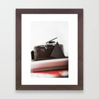 chocolate mouse cake Framed Art Print