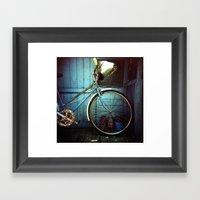 Bluebell The Blue Bicycl… Framed Art Print