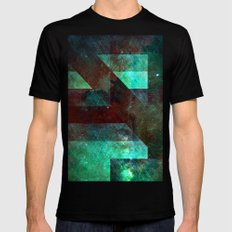 Emerald Nebulæ  Black SMALL Mens Fitted Tee