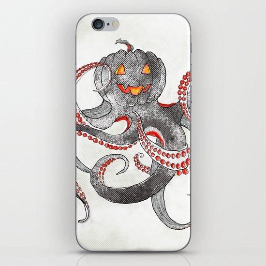 Halloween octopus iPhone & iPod Skin