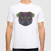 Intergalactic Dog Mens Fitted Tee Ash Grey SMALL