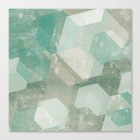 Honeycomb Abstract Canvas Print