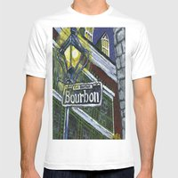 Rue Bourbon Mens Fitted Tee White SMALL