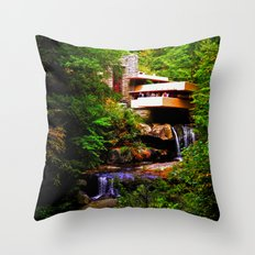 Falling Water Throw Pillow