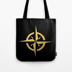 Compass Black & Gold - gold foil, gold, compass, black and white, trendy, luxe, gold phone Tote Bag