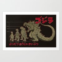 Evolution of The King of Monsters Art Print