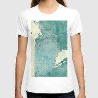 United States Of America… Womens Fitted Tee White MEDIUM