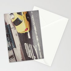one way taxi:: nyc Stationery Cards