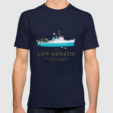 The Life Aquatic With St… Mens Fitted Tee Navy SMALL