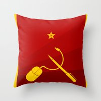 Copyism Throw Pillow