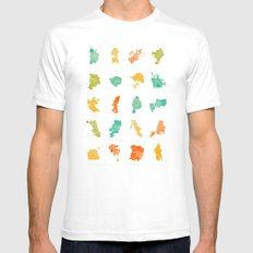 Pop Cities Mens Fitted Tee White SMALL